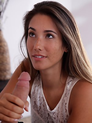 Cock hungry babe Eva Lovia seduces...
